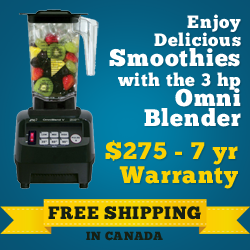 Enjoy Delicious Smoothies with the 3 hp Omni Blender $27 - 7yr Warranty - Free Shipping in Canada